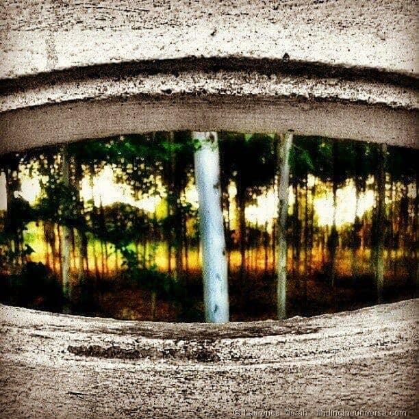 Instagram through a window