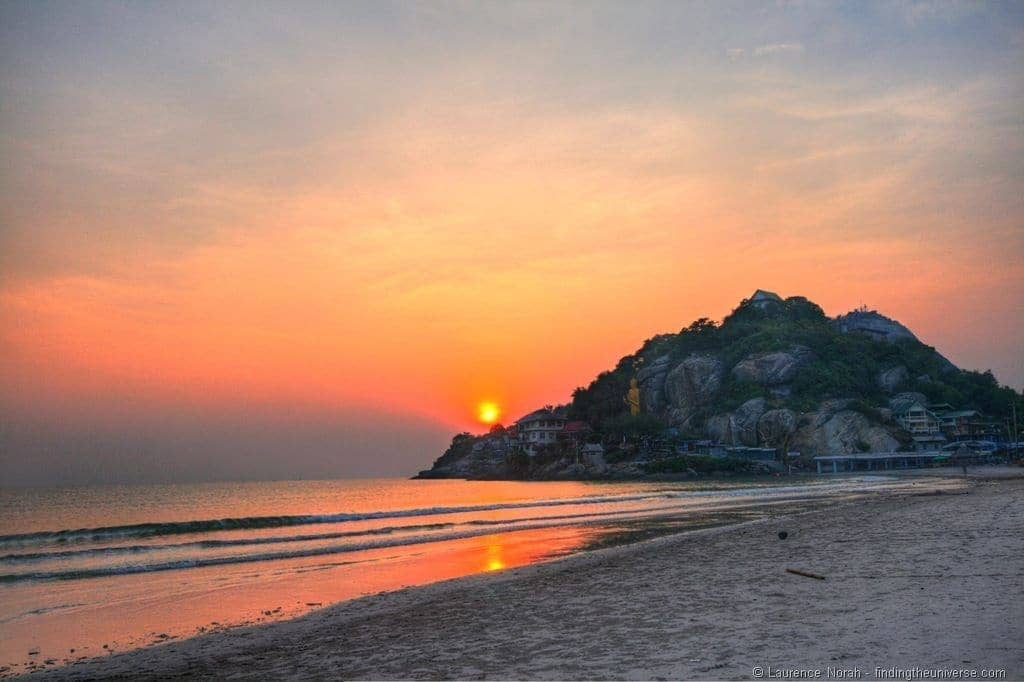 Sunrise from Nern Chalet Hua Hin beach