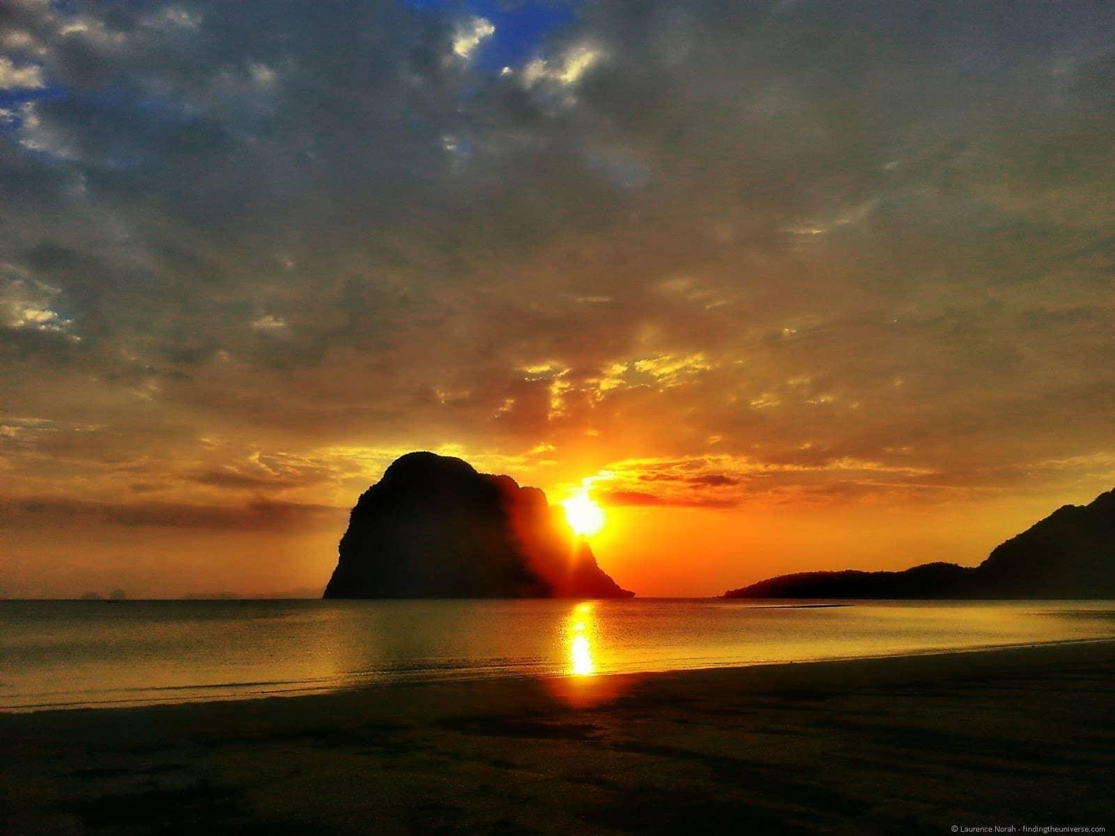 Sunset pak meng beach Laytrang