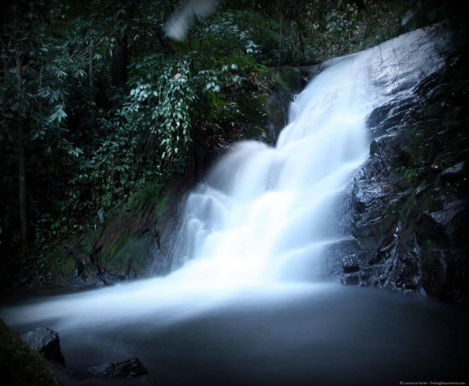 Doi Inthanon waterfall close up