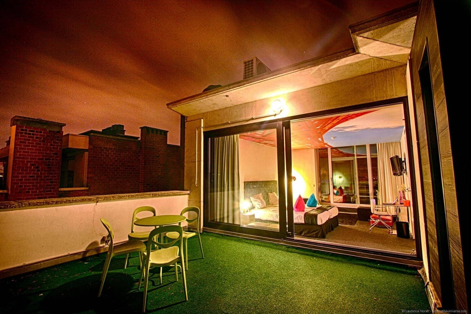 Pantone hotel roof room
