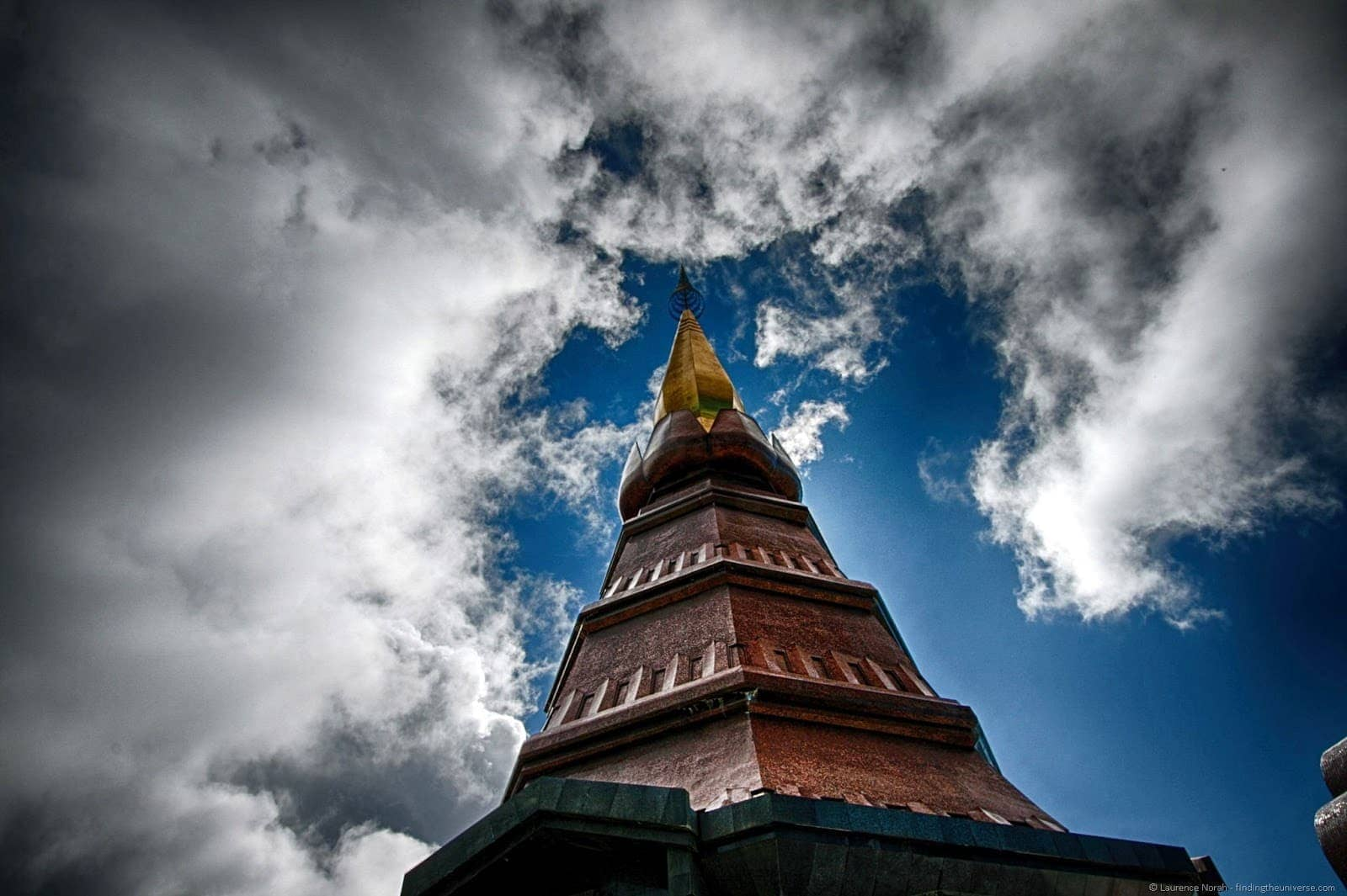 Royal Pagoda Doi Inthanon Thailand close up