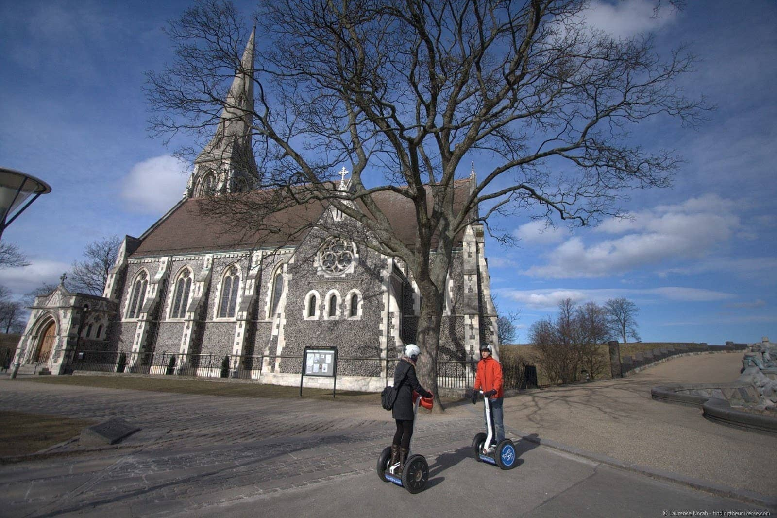 Vera and Sam Segway tour Copenhagen church