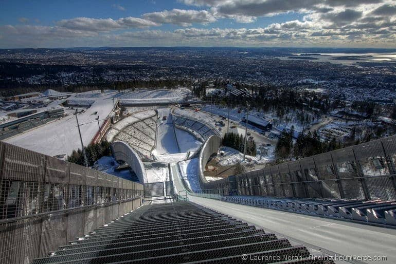 Oslo view from top of holmenkollen