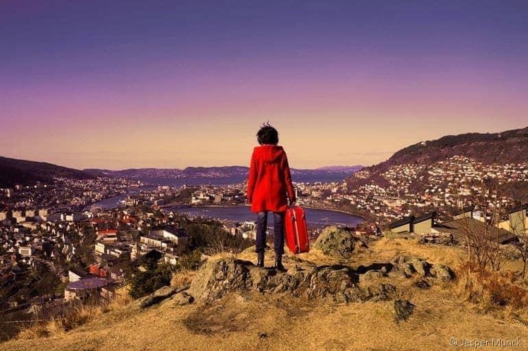 View of Bergen from YHA hostel by Jesper Munck