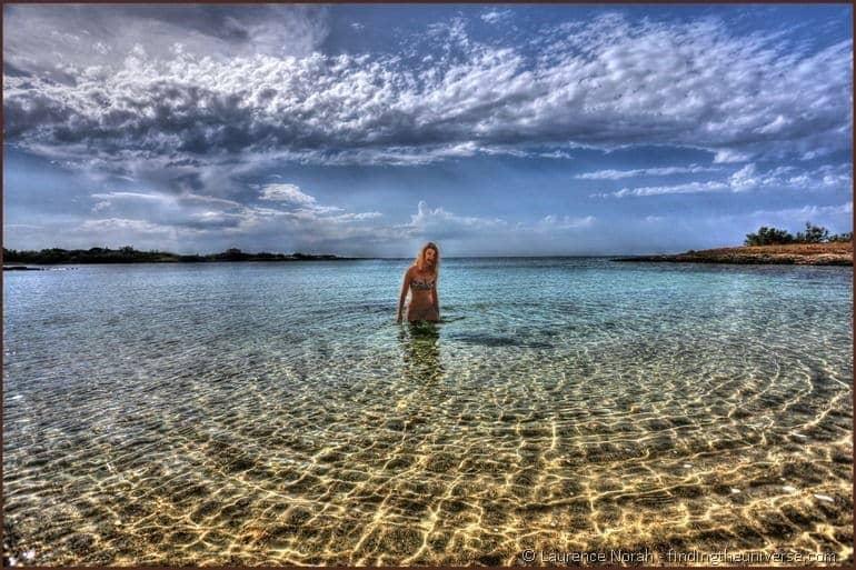 Emma in the sea