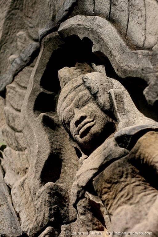 Stone statue Thailand temple