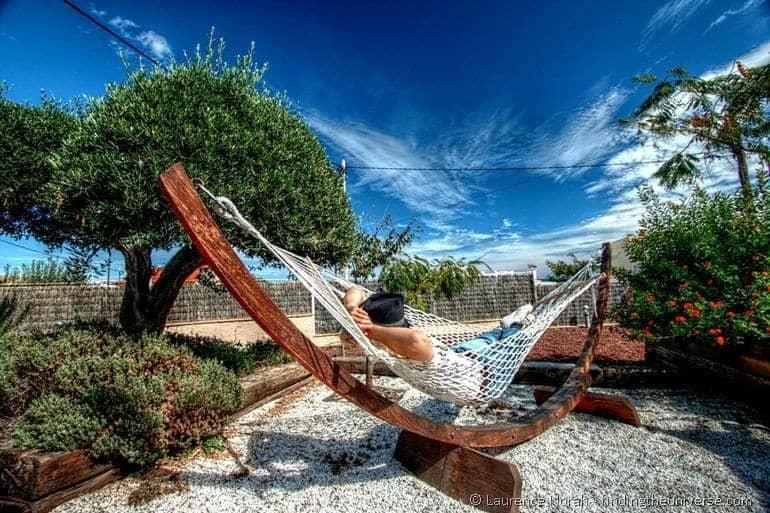 Vera in hammock