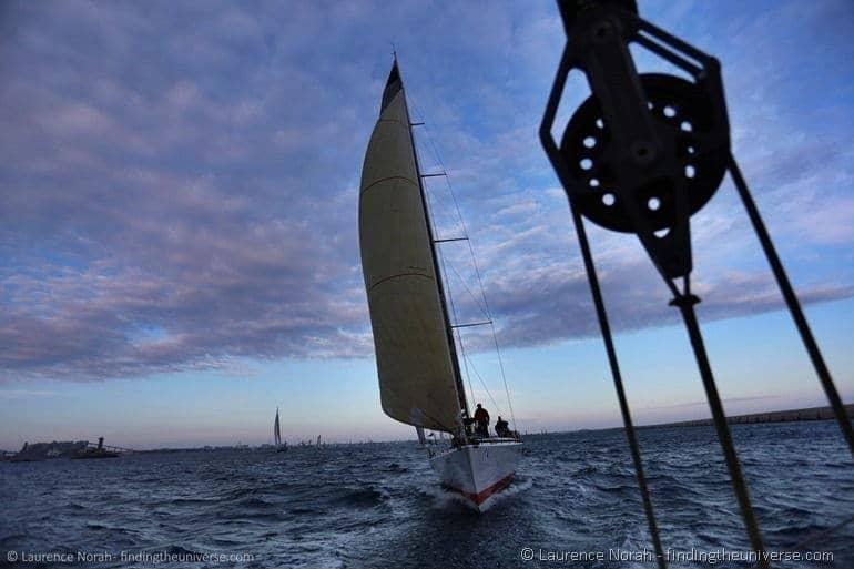 Sail boat behind us