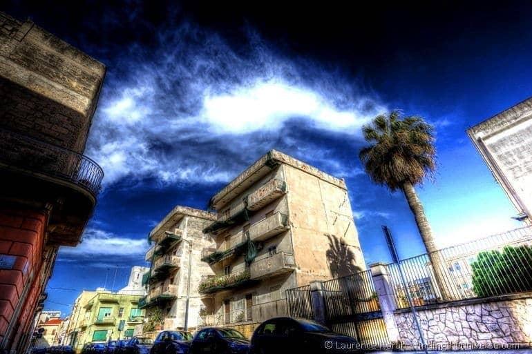 decaying tower block