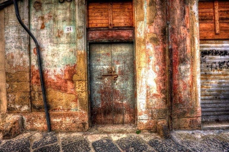 old doorway brindisi italy