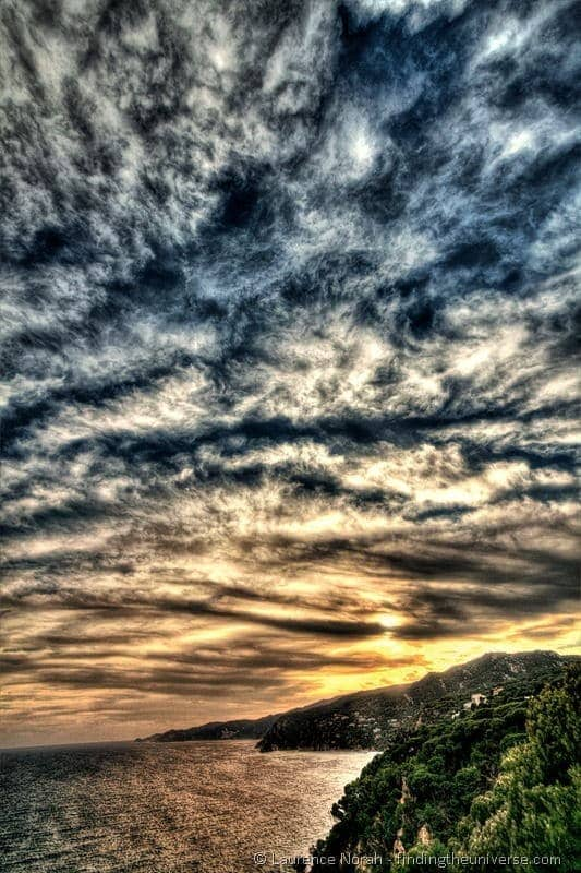 Costa brava sky sunset