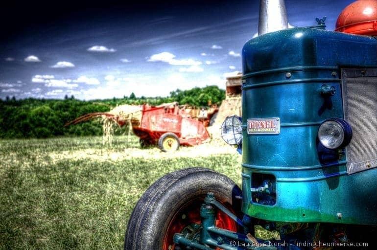 Diesel field marshal tractor field hay