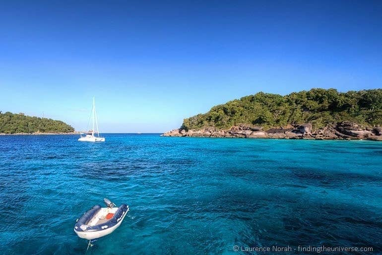Inflatable boat Similan islands Thailand