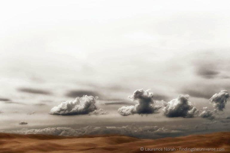 Clouds surreal australia sand dune