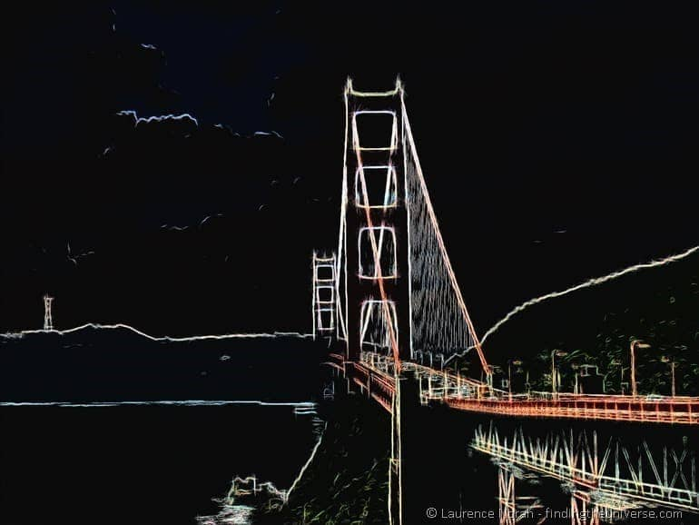 Golden Gate Bridge Crayon