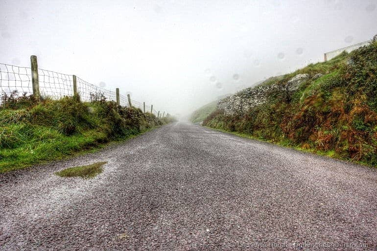 Dingle wet road Ireland
