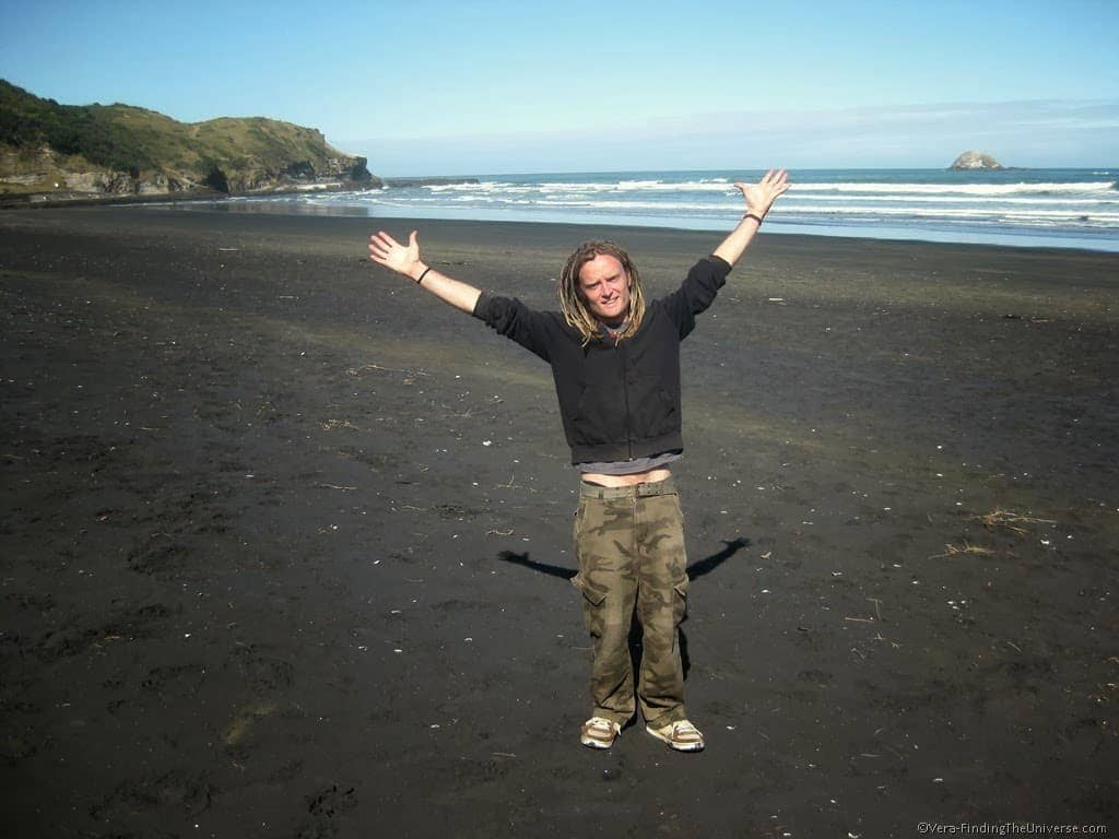Loz at Muriwai Beach New Zealand