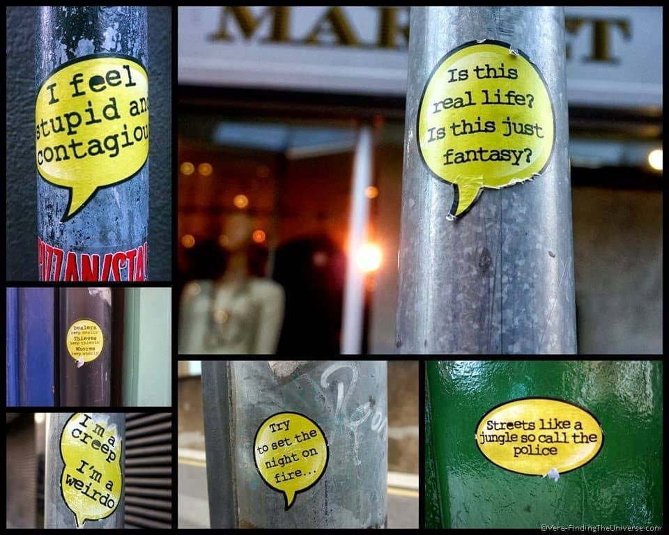 Ear Worm Stickers - Street Art Dublin