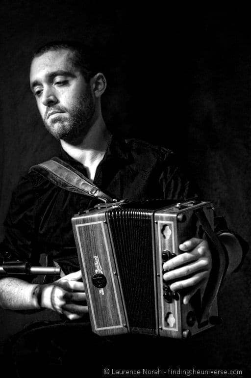 Accordion player Irish traditional music