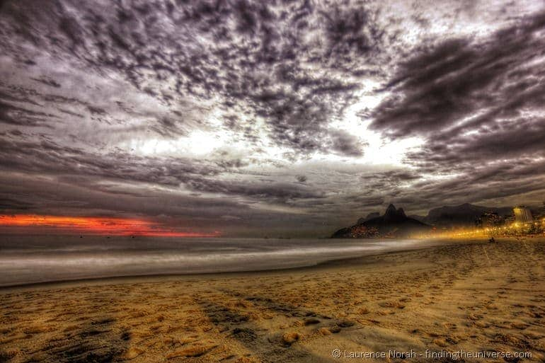 Ipanema beach sunset 2