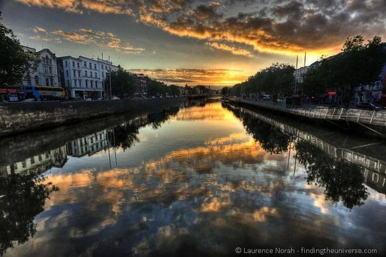 Sunset river Liffey