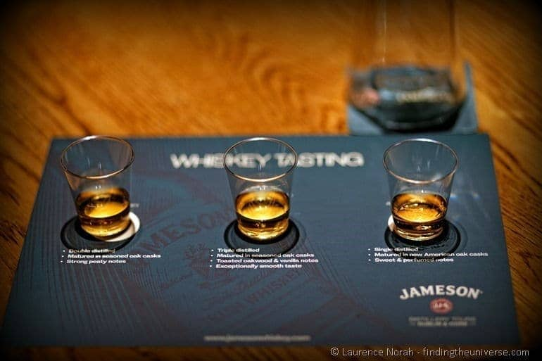 Whiskey tasting Jameson Distillery Ireland