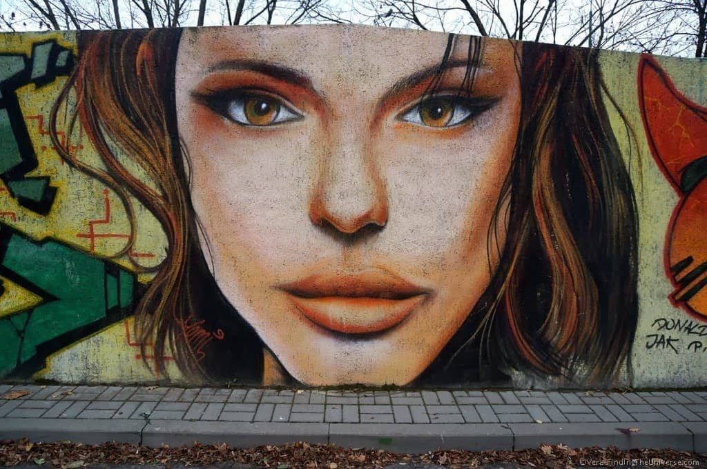 Girl's Face Street Art Poznan