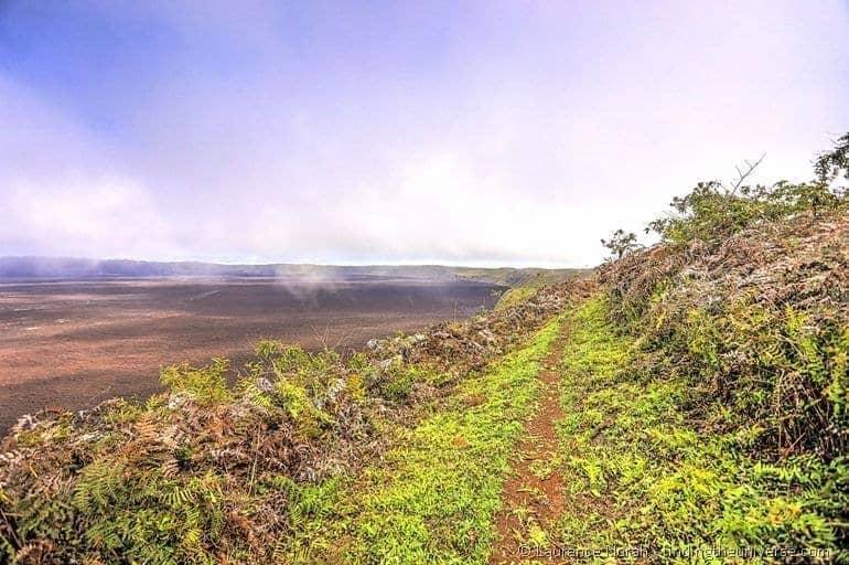 Sierra Negra volcano caldera rim hike Galapagos