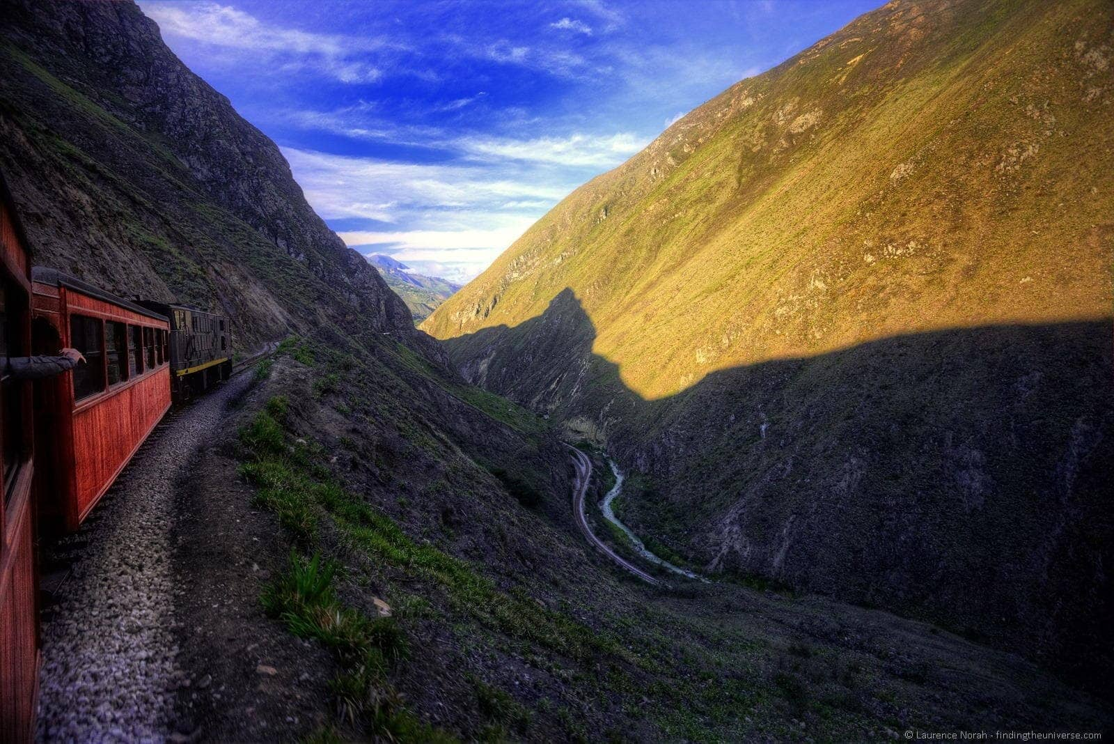 Train devils nose switchback view ecuador nariz diablo
