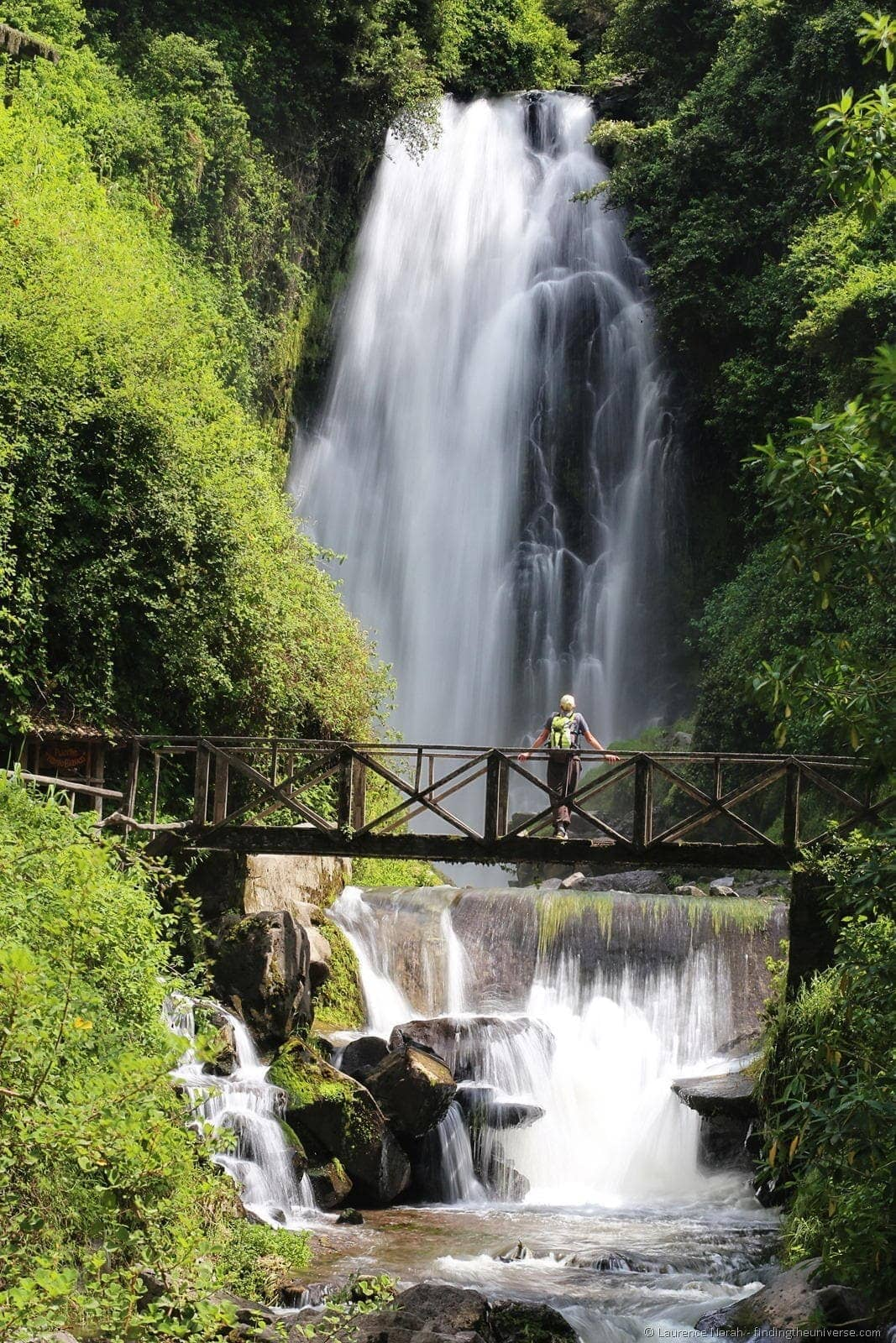 otavalo ecuador - waterfall peguche