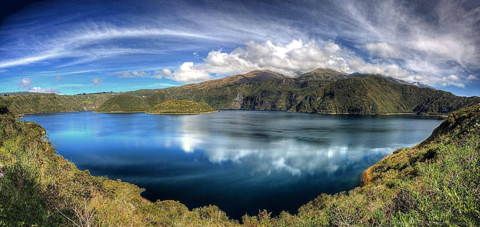 cuicocha lake otavalo panoramic scaled
