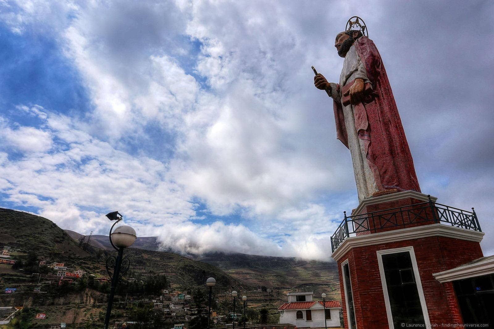 statue of st peter in Alausi ecuador 2