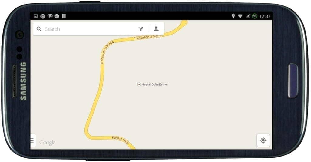 galaxys3 google maps screenshot