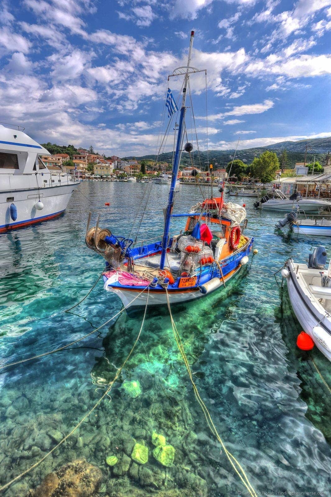 Boat in Greek harbour
