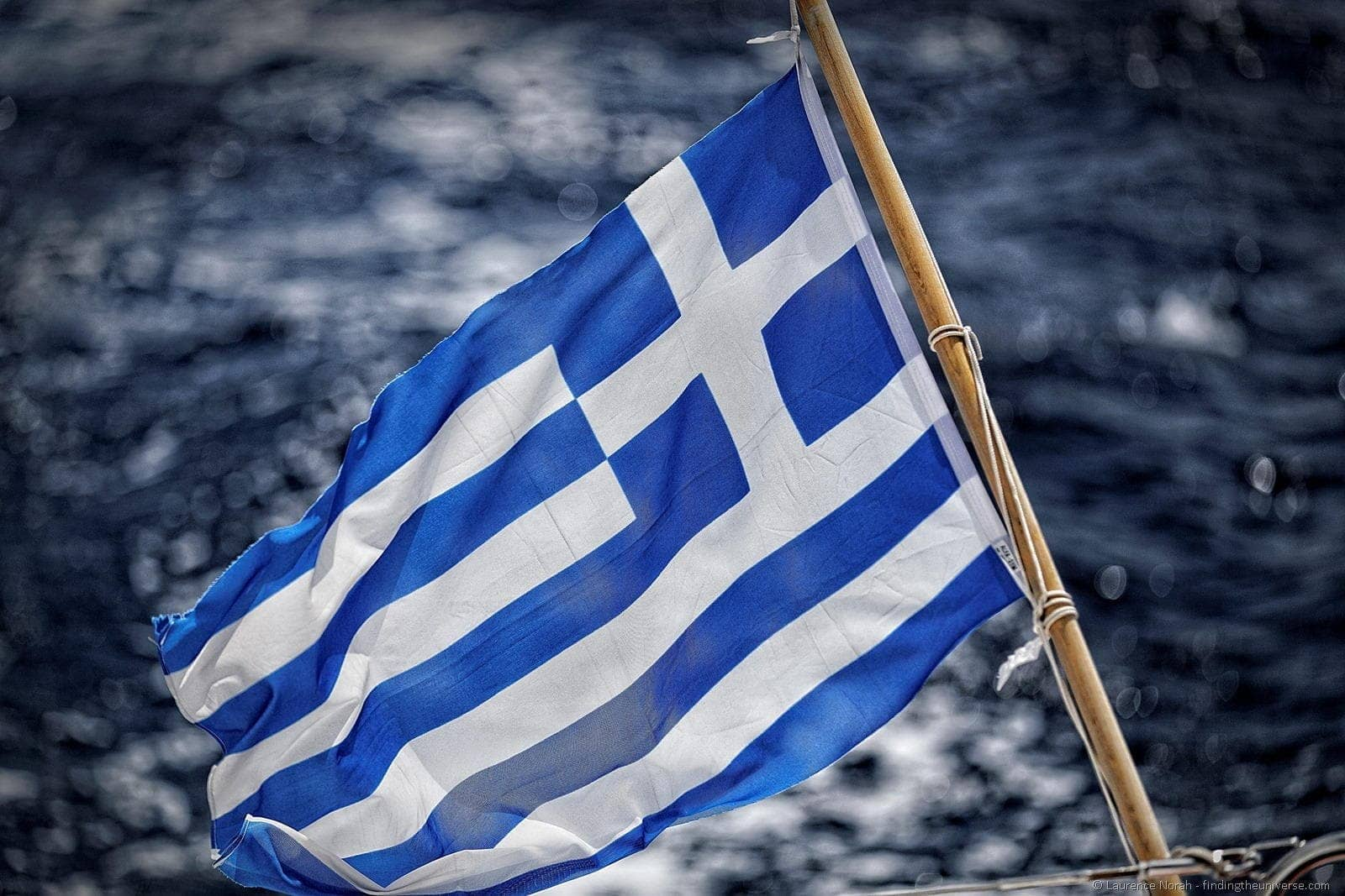 greek flag sea