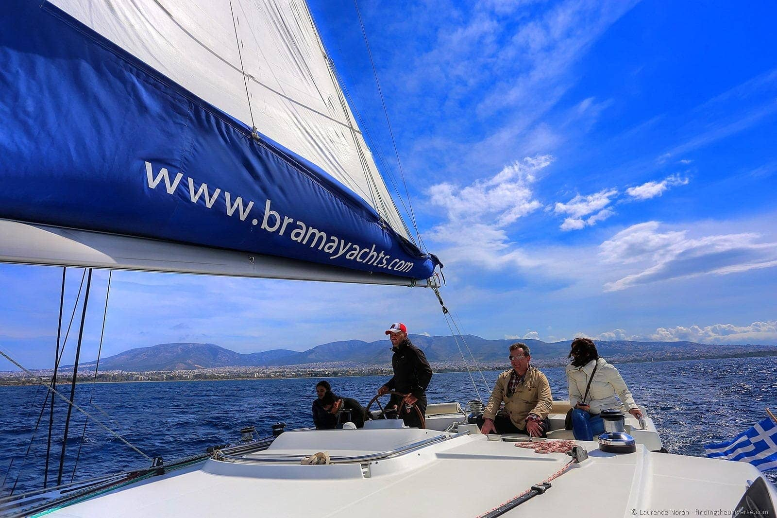 people yacht sailing greece athens