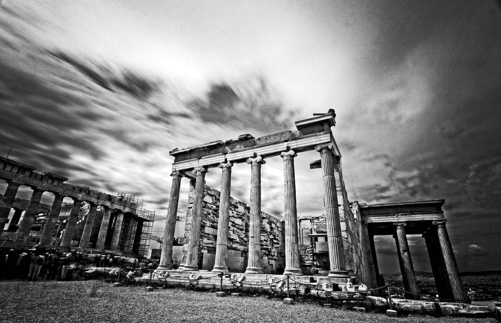 Acropolis black and white Greece