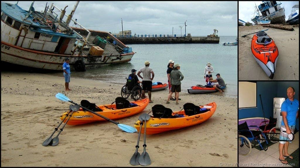 Wheelchairs and Canoeing - Galapagos