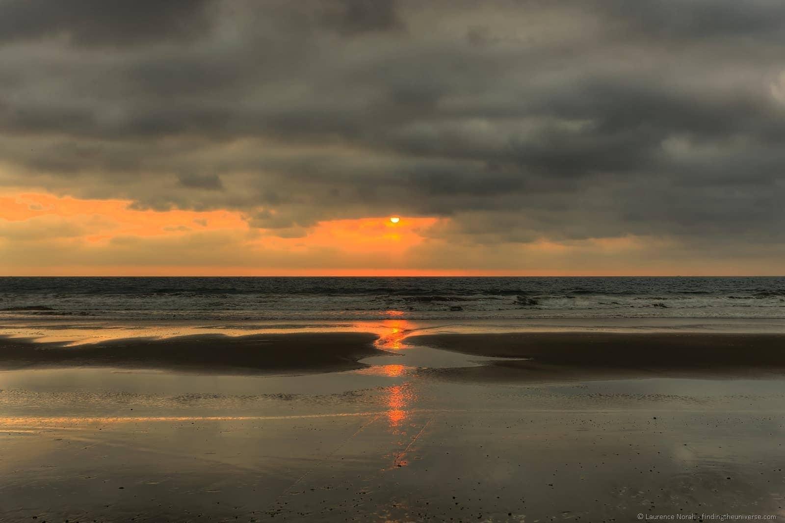 Sunset ecuador beach montanita