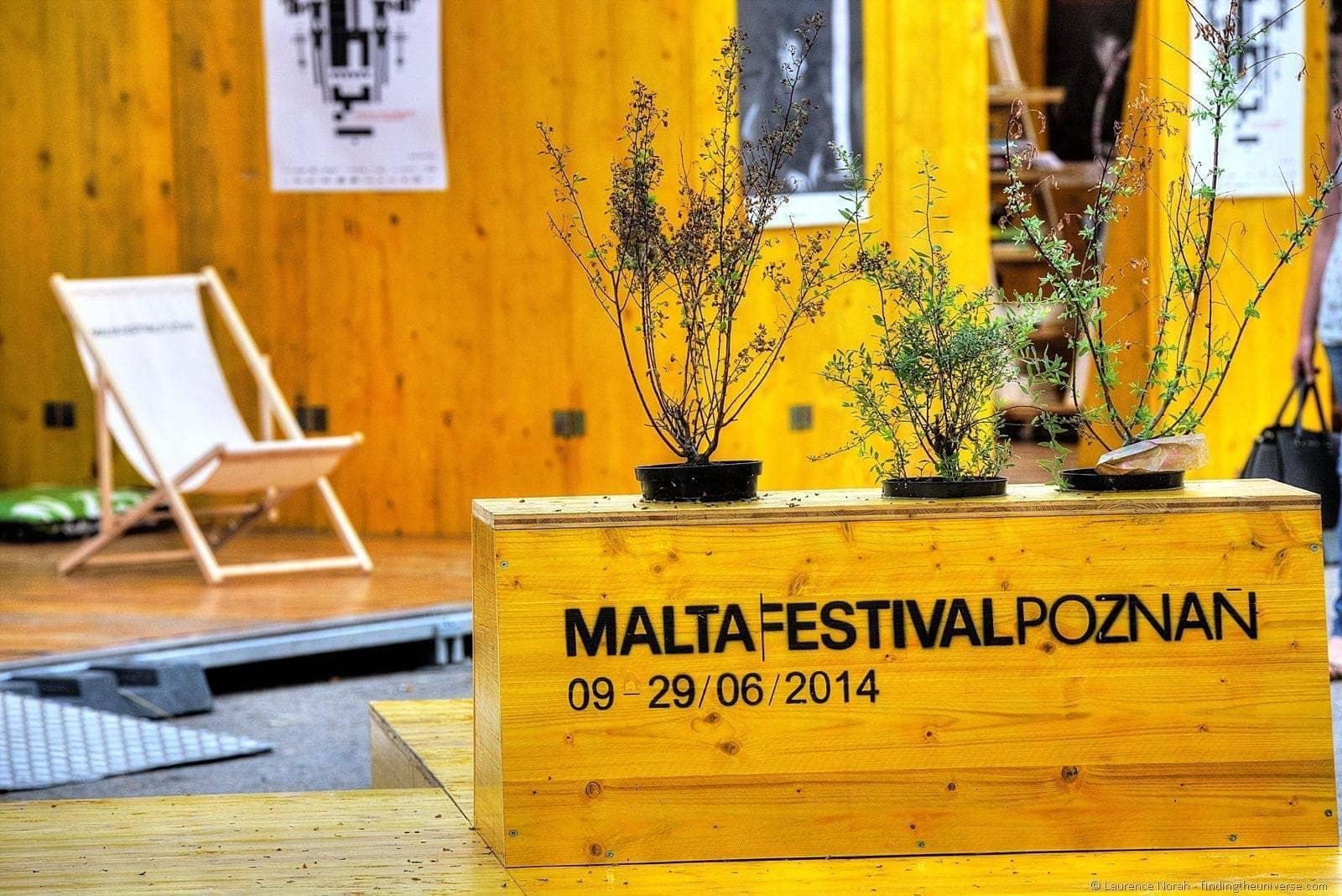 summer festivals in poznan -malta festival poznan sign