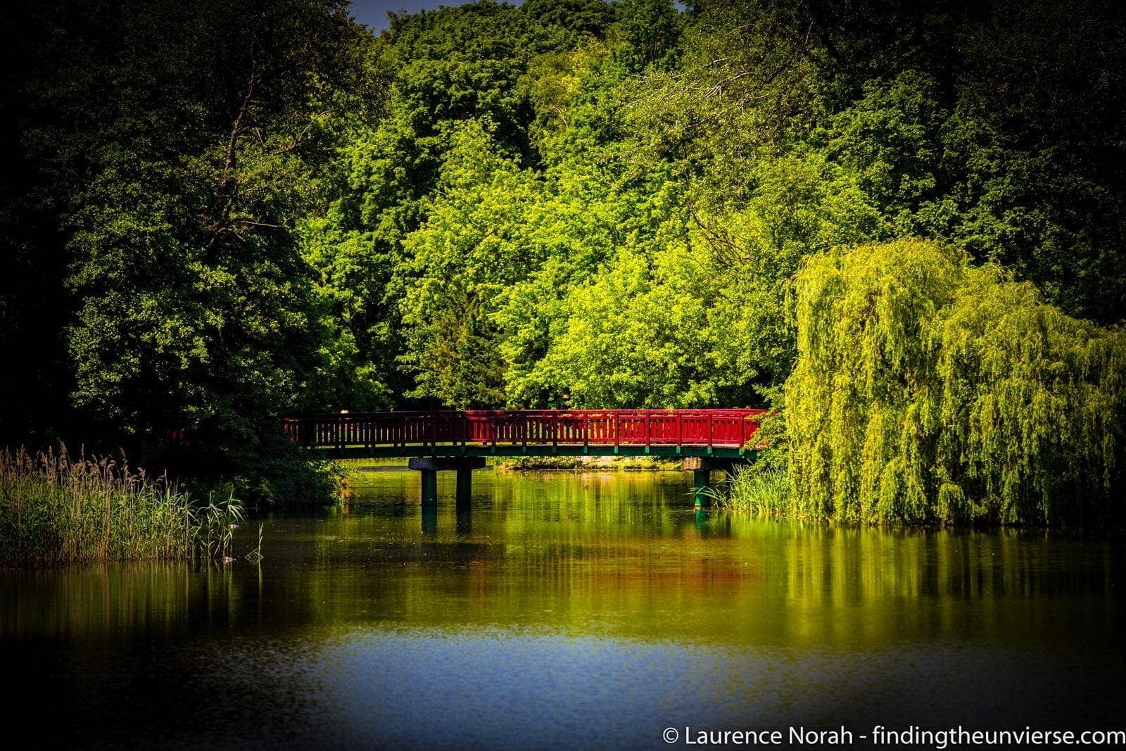 Bridge across lake Poznan park2