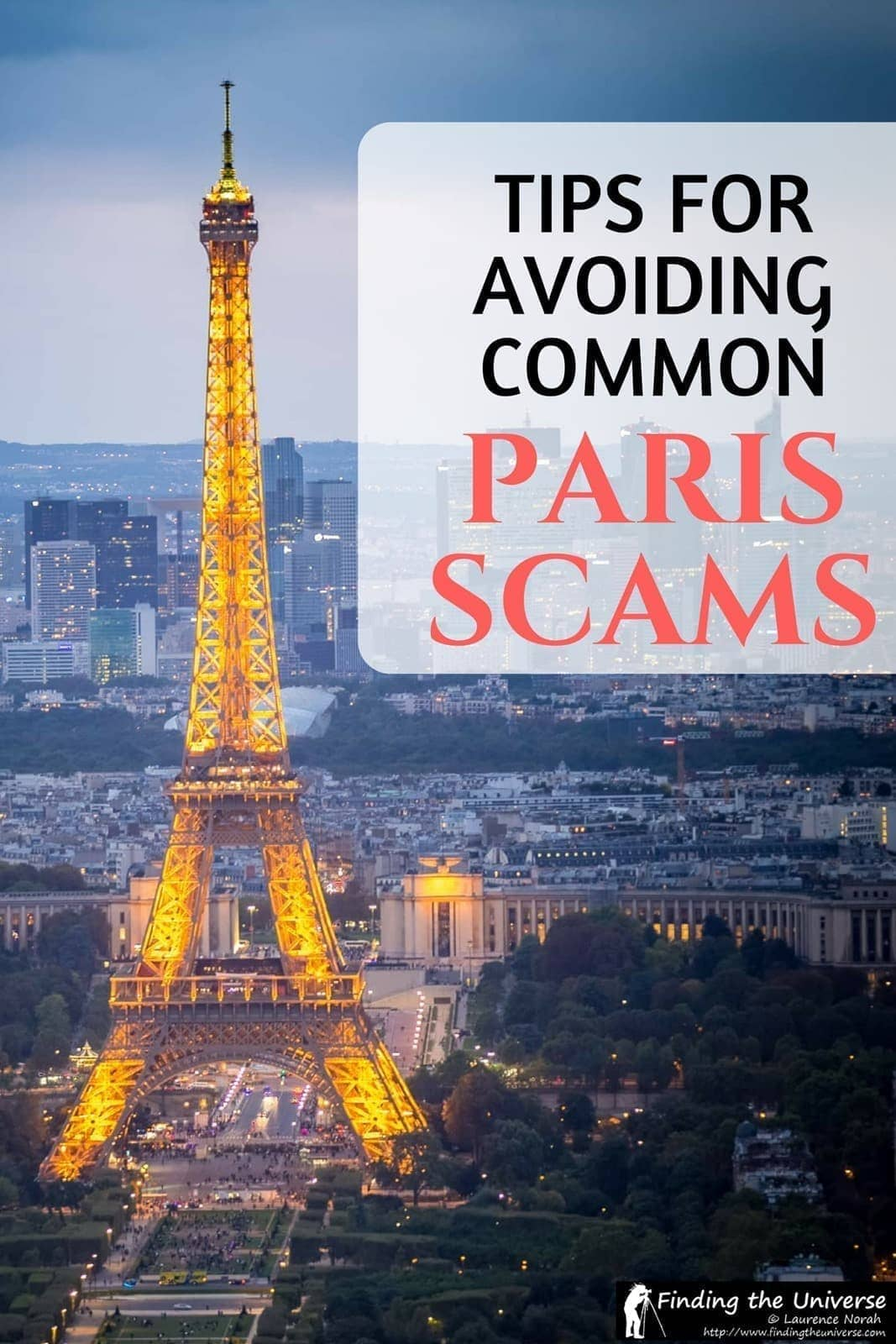 Advice on avoiding the more common scams in Paris, including the ring scam, the friendship bracelets, the cup and ball game and the petitions.