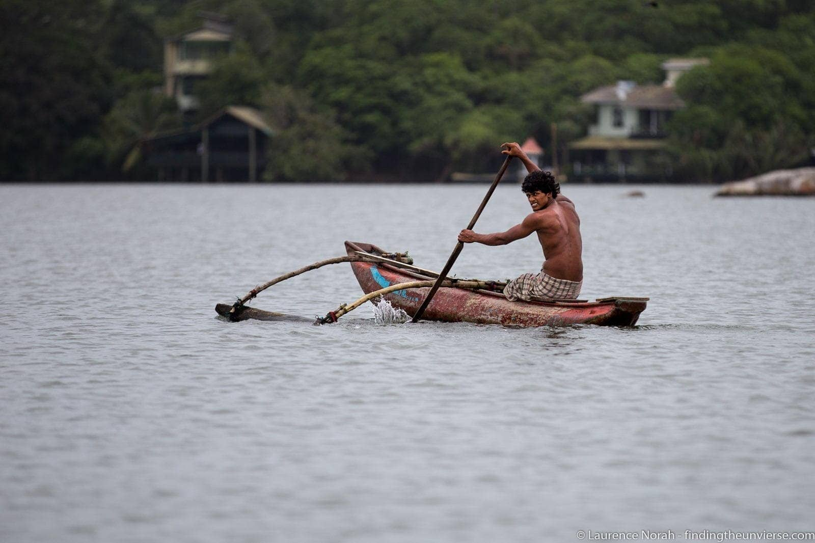 Sri Lanka man canoeing scaled