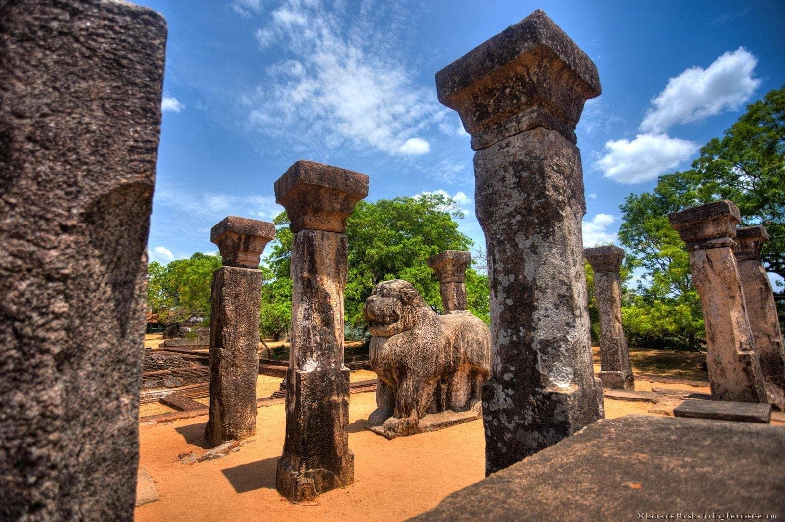 Sri Lankan Lion Statue Polonnaruwa