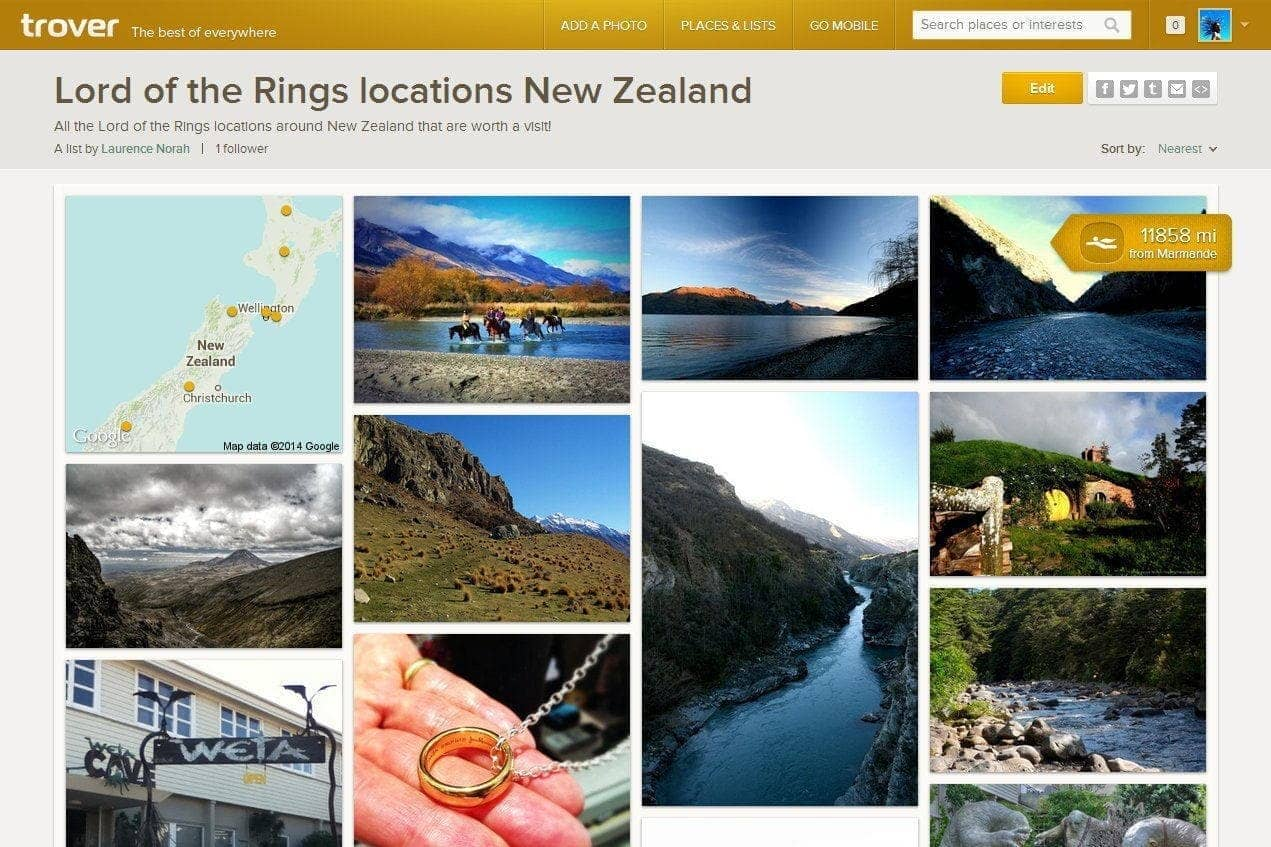 Trover discoveries lord of the rings locations
