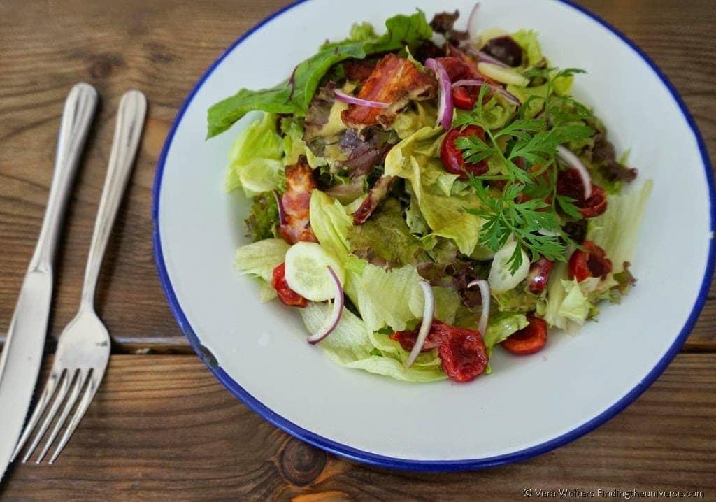 Tasty salad at Jezyce Kuchnia, Poznan, Poland