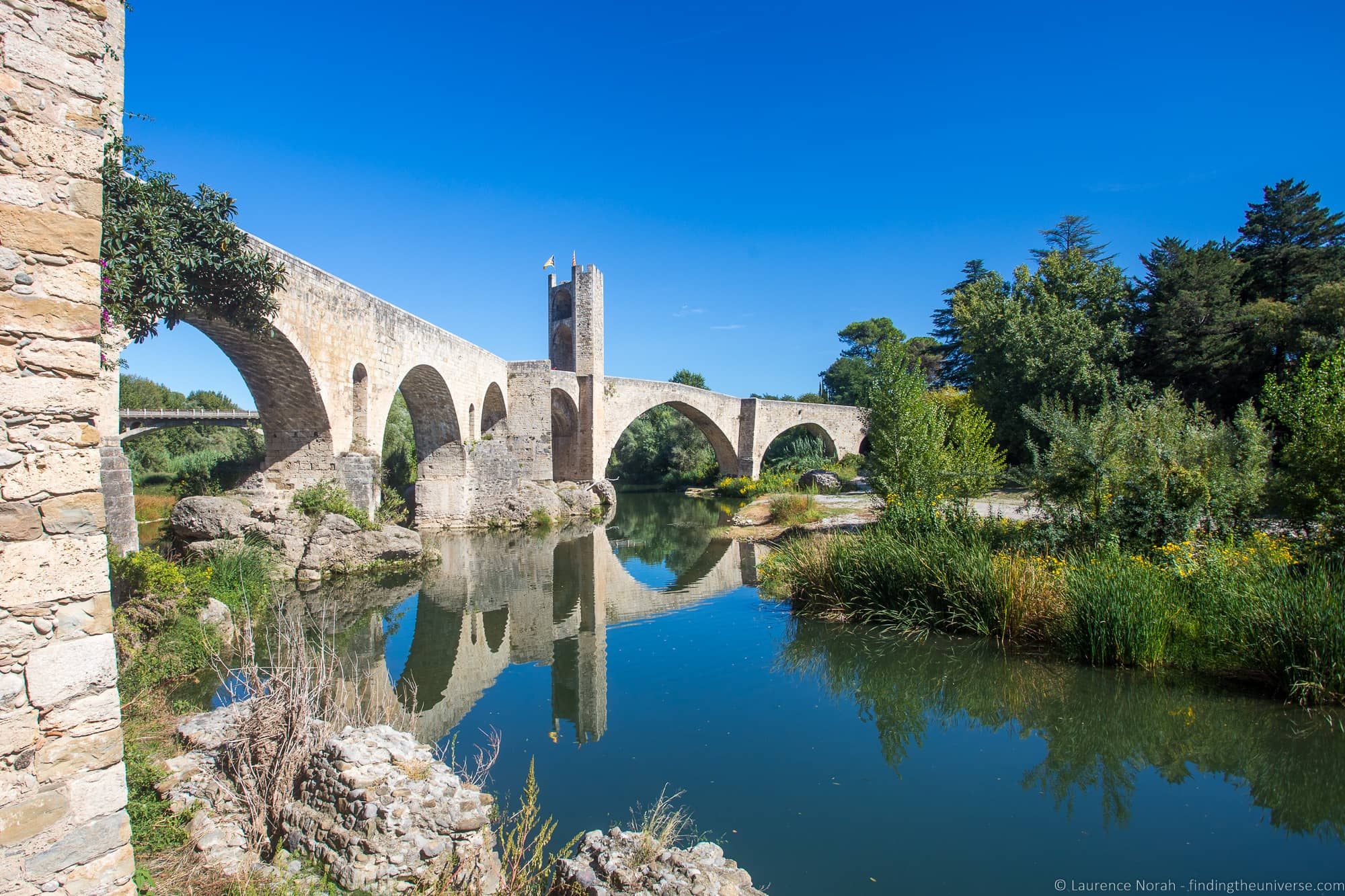 Besalu medieval bridge Costa Brava 4