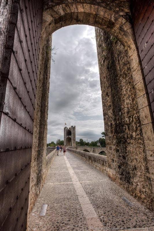 Besalu Bridge doorway Costa Brava