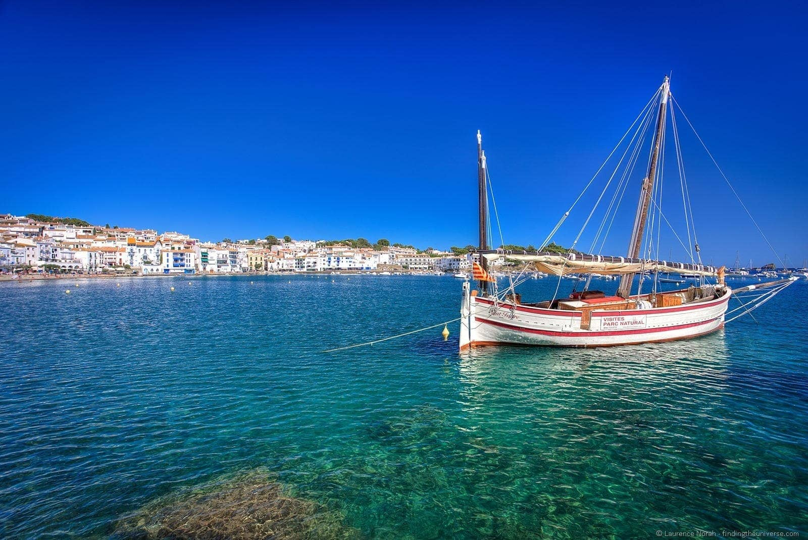 Boat in cadaques harbour spain